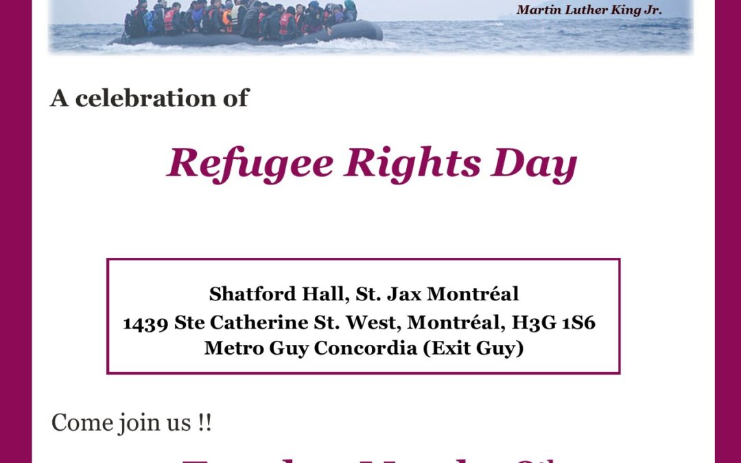 Join ARM for Refugee Rights Day!